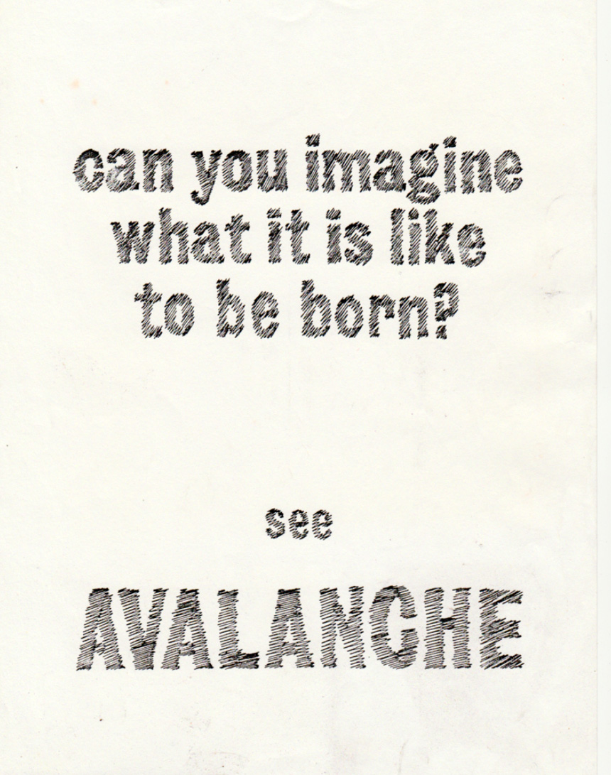 Avalanche film poster